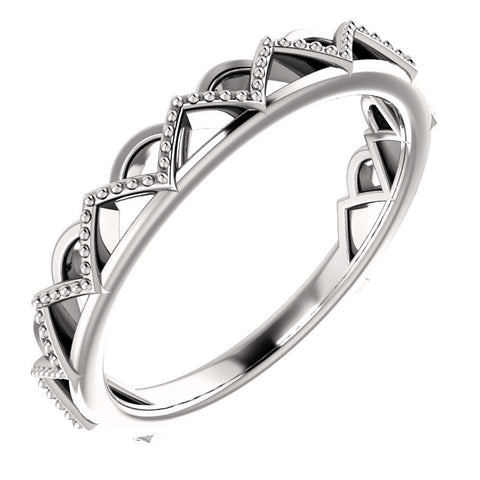 Stackable Crown Ring