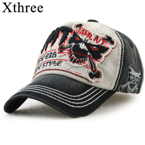 xthree cotton fasion Leisure baseball cap Hat for men Snapback hat casquette women's cap wholesale fashion Accessories