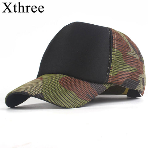 Xthree cheap Baseball Caps Men Camouflage Hat Cap  Casquette Dad Hat for Women Gorras snapback Hat