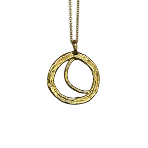 Shinning with the moon 18Kt gold pendant. Cristina Tamames Jewelry Designer