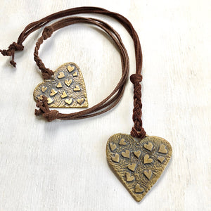 Dancing Hearts Bronze pendant