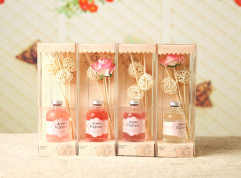 4pcs Different 60ml Dried Flower Rattan Sticks Aroma Diffuser