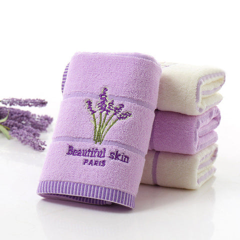 100% Cotton Lavender Face Towel