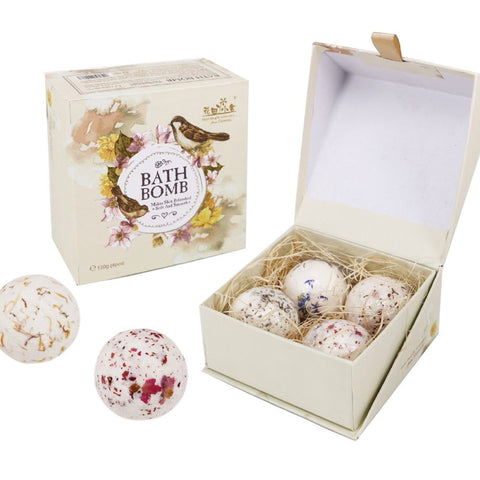 Pretty 4PCS/1box Bath Bombs Ball Natural Sea Salt High Quality Lavender Bubble Essential Body Scrub  Bath Salts