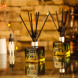Fragrance Diffuser, Black Aromatherapy Sticks and Rattan Ball