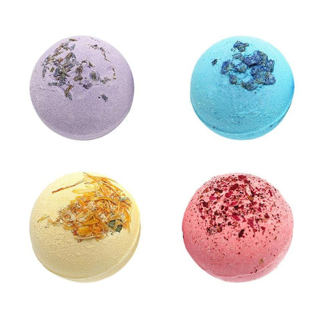 4 Style Rose / Lavender / Lemon / Sea Bath Shower Bombs
