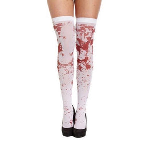 Blood Spatter Thigh High Stockings