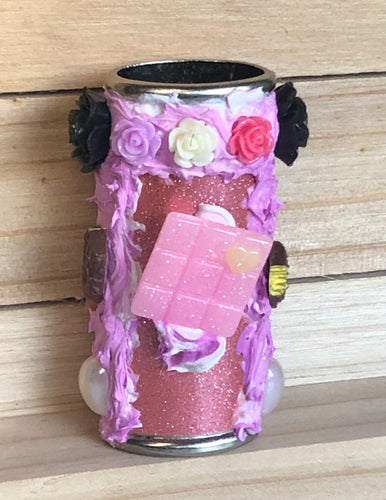 Pink Candy Rose Bic Lighter Case