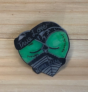Frankenstein Monster Love Booty Lapel Pin