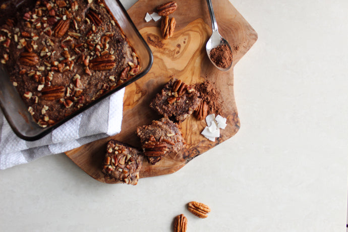 Healthy DF Pecan Brownies