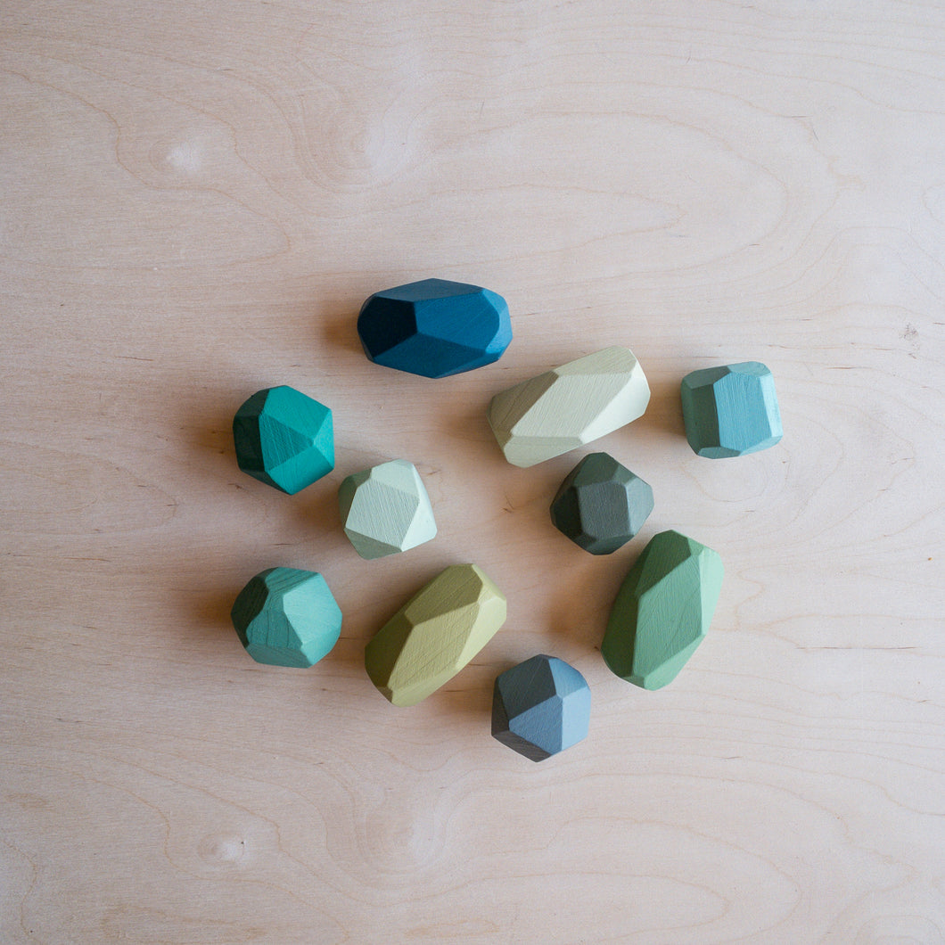 Green Gem stacking blocks