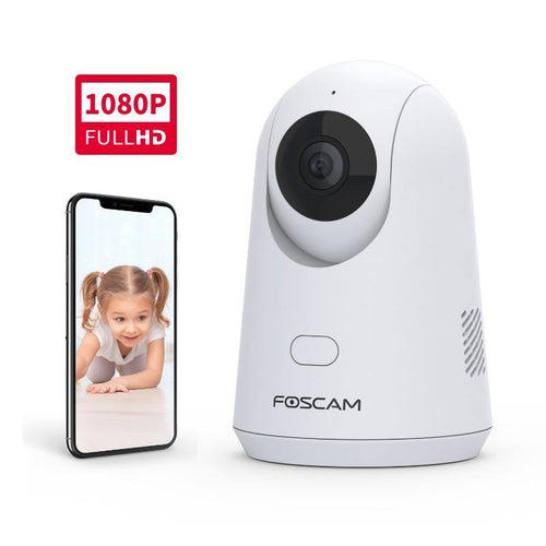 Foscam X2 Baby Monitor 2.4G 1080P Pet Camera with PTZ Human Sound Detection - Foscam