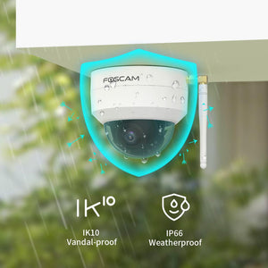 New arrival - Foscam VZ4 4MP Dual Band Wi-Fi PTZ Vandal Proof Camera - Foscam