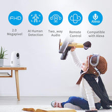 Wifi  Indoor Camera  Foscam X2 1080PHuman Detection, Night Vision, Cloud Service Available, Support Alexa - Foscam