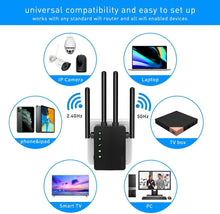 Foscam WiFi Range Extender Wireless WiFi Signal Booster Covers Up to 1200 Sq.ft - Foscam