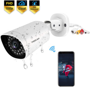 Foscam QJ2 Outdoor Bullet Security Camera, 1080P POE IP Camera - Foscam