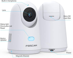 Special deal - Foscam X2 Baby Monitor 2.4G 1080P Pet Camera with PTZ Human Sound Detection - Foscam