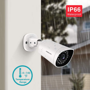 Foscam PoE Ultra HD 2K 4MP IP Camera, Outdoor/Indoor Camera,AI Human/Motion Detection /66ft Night Vision with 30 IR-LEDs