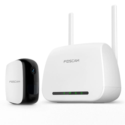 Foscam E1 Wire-Free Home Security Camera System, Wireless Rechargeable Battery Powered WiFi Camera - Foscam