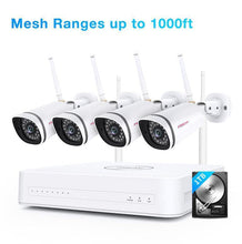 Load image into Gallery viewer, Refurbished - Foscam 1080P Mesh WiFi Security Camera System Ranges up to 1000ft+1TB Hard Drive With 4 WIFI Security Cameras - Foscam