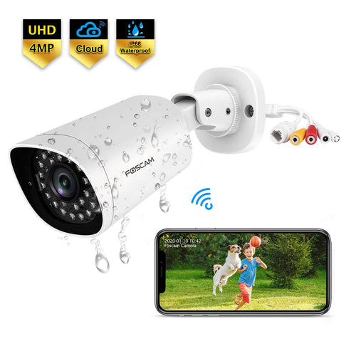 Foscam QJ4 PoE Outdoor Bullet Security Camera Ultra HD 2K 4MP IP Camera - Foscam