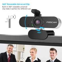 Load image into Gallery viewer, Foscam USB 2.0 1080P Full HD Webcam Camera for Computer PC Laptop Video Microphone - Foscam