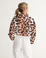 Leopard Women's Cropped Windbreaker - Bujog