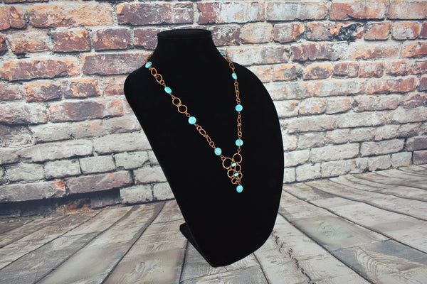 Handmade copper wire necklace - Bujog
