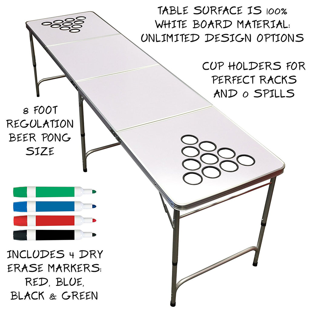 Incredible Dry Erase Portable Beer Pong Table Download Free Architecture Designs Scobabritishbridgeorg