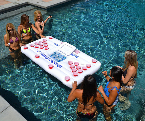 Floating Beer Pong Table Inflatable Raft with Optional Cooler