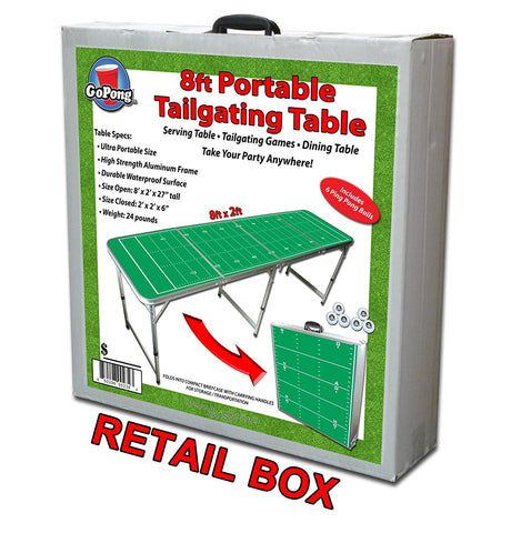 Football Field Portable Beer Pong Table