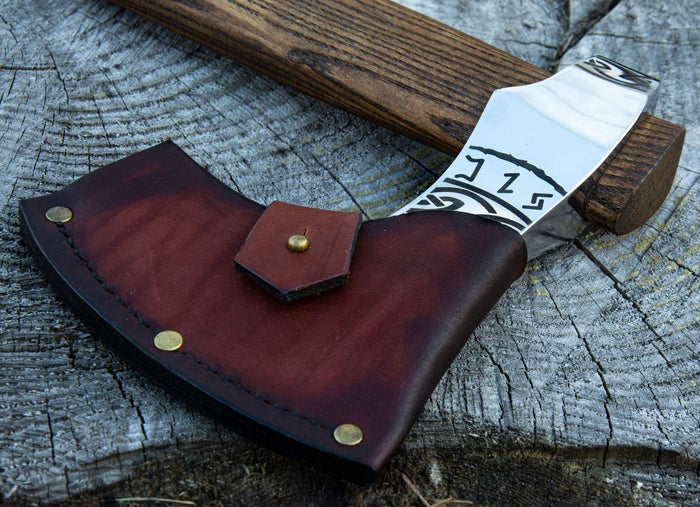 ancientsmithy add-ons Leather cover for axe