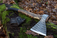 ancientsmithy axe Handmade Axe Trusty Styrr  in a leather case