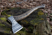 ancientsmithy axe Throwing Styrr Axe in a leather case