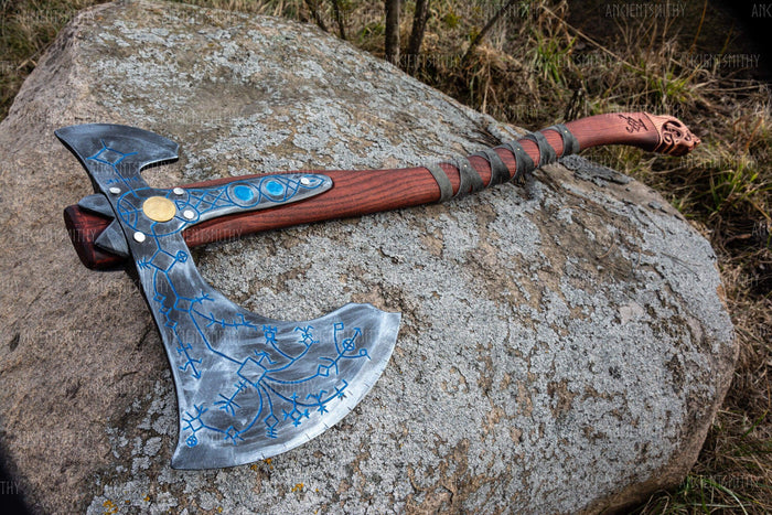 ancientsmithy axe without my text Leviathan felling hatchet Axe God of War