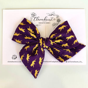 Royal Purple with Gold Tigers