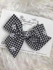 Gingham Embroidered Eyelet