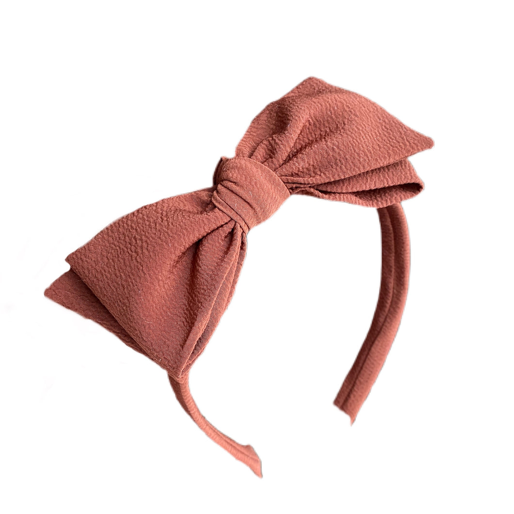 Rust Crepe Hard Headband