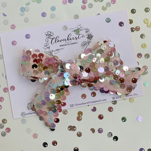 Glam Sequin Bow (Clips only)