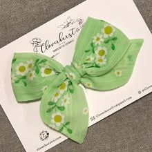 Vintage Green Flocked Floral