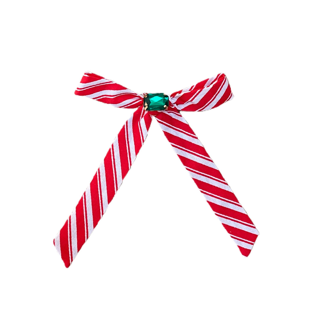 Candy Cane Stripe Red with Jewels