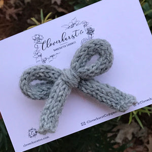 Light Grey Knitted Bow
