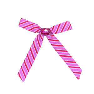 Candy Cane Stripe Pink with Jewel