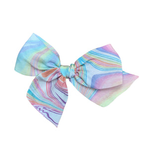 Pastel Rainbow Marbled Silk