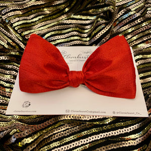 Red Silk Dupioni Minnie Stand Up Bow