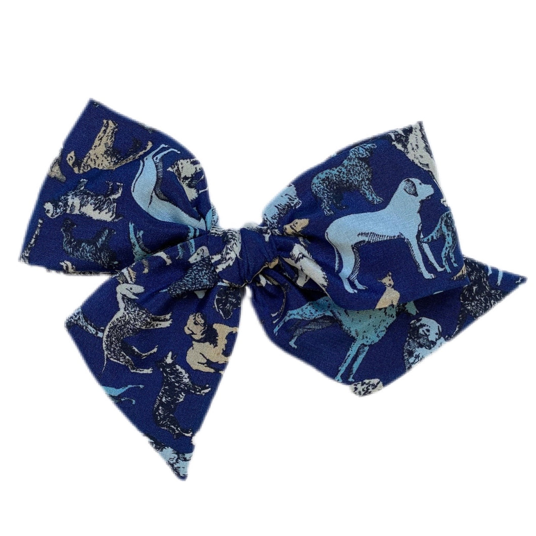 Liberty of London Navy Silk Crepe Dogs