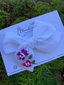 Hand Embroidered Silk Ribbon Flowers LARGE