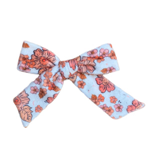 Harvest Fall Floral Velvety Bows