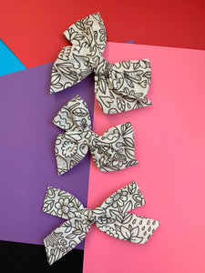 Doodle Coloring Book Bow