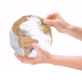 3D Globe being scratched